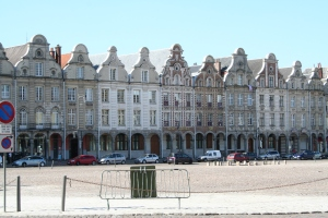 Central square in Arras showing its Flemish architecture