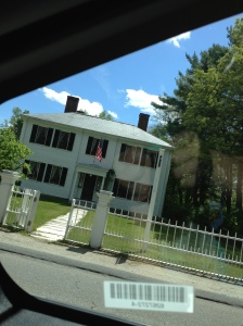 Hayley 'graciously' shot this photo of Ralphie's house, from inside our moving car. Anything to ensure Mommy didn't stop the car, get out, and tour the house.