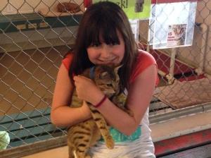 Hayley and Alyssa with Hawaiian cats