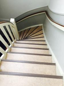 Amsterdam narrow stairway