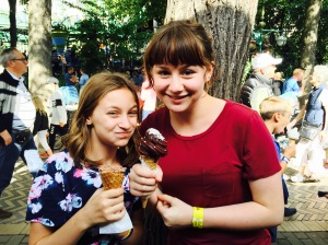 Danish ice cream at Tivoli Gardens
