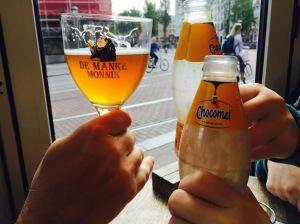 Toasting Amsterdam.